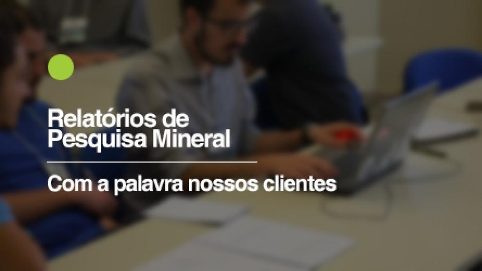 Curso Relatórios de Pesquisa Mineral - 11 a 13 de Maio em Goiânia