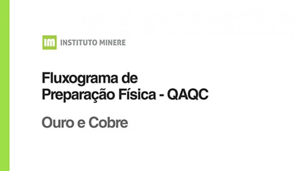 Fluxograma de Preparação Física - Ouro e Cobre - QAQC