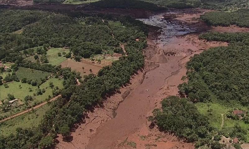 Antes e Depois do rompimento de barragem da Mina do Feijão em Brumadinho, MG