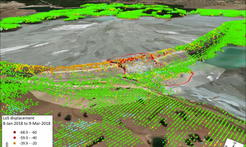 InSar como método eficaz no monitoramento geotécnico.